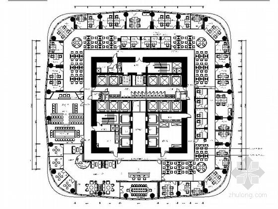 [北京]现代律师事务所室内装修施工图(含效果图)