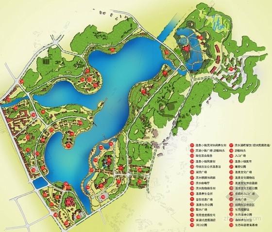 国际温泉度假区概念性规划设计总平面图