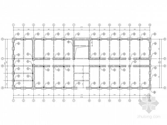 8度区70年代砖混结构教学楼加固施工图