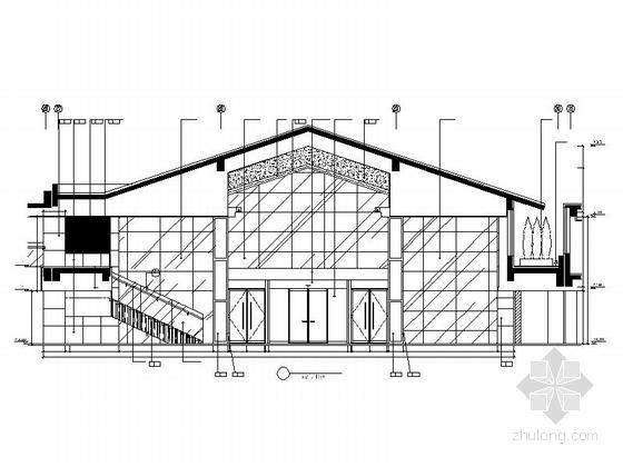 [北京]国际集团时尚现代商务酒店室内设计施工图(含效果图) 立面图