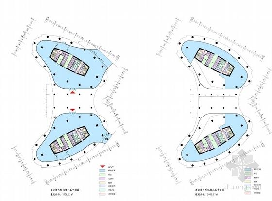 现代风格科研中心规划及建筑设计平面图