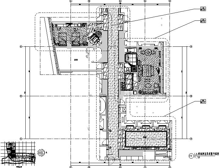 [北京]丽雅酒店样板房设计施工图(附效果图+材料手册+家具灯具)