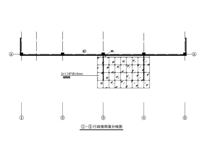 行政楼大门雨棚钢结构施工图(CAD、7张)