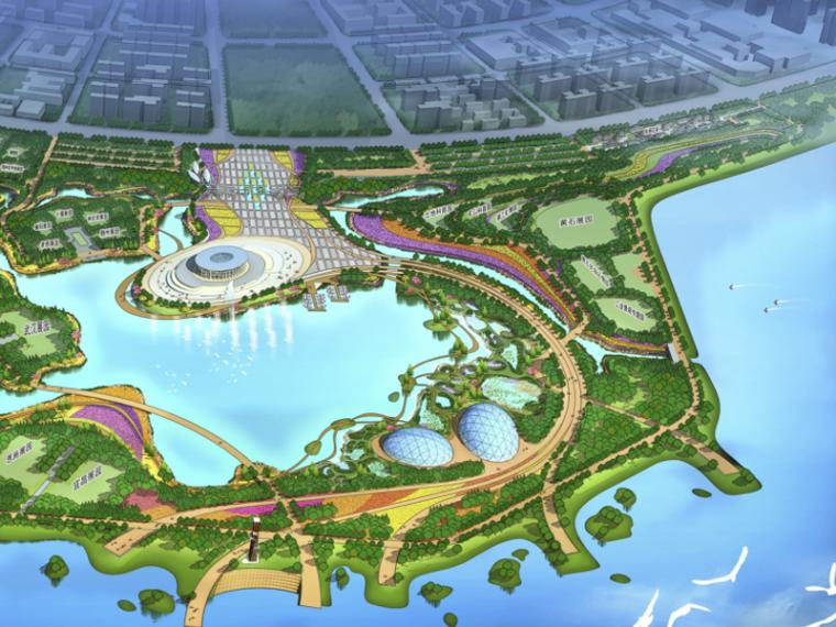 [湖北]首届园林博览会景观总体规划设计(滨水湿地,花谷)