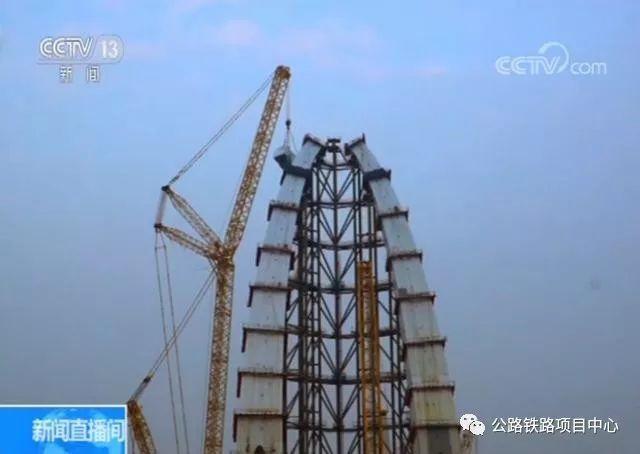 北京新首钢大桥高塔合龙 预计9月建成