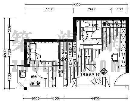 家装设计方案2(一居室)