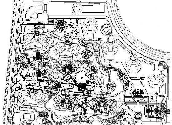 北京万科新园全套景观设计施工图-2