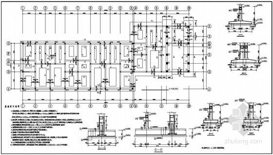 结构设计总说明,基础平面布置图,梁结构平面图,板结构平面图,屋顶梁图片
