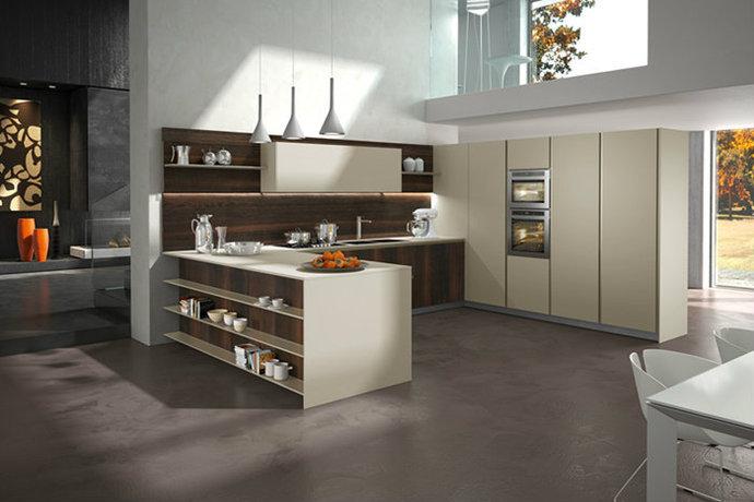 简约欧式风格厨房装修效果图