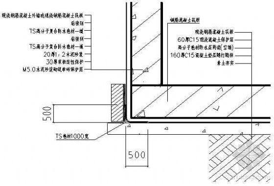 潍坊某医院综合楼筏板、地下室外墙防水技术交底