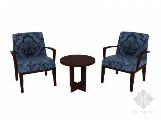 茶几椅子3D模型下载