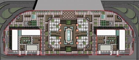 大型交通枢纽站建筑设计总平面图
