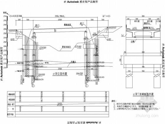 1x25m预应力混凝土简支箱梁桥设计套图(26张)