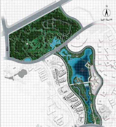 南京软件园中心景区景观设计