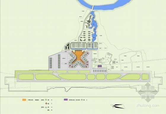 """[湖南]""""X""""型模块化钢结构机场建筑设计方案文本(含CAD及多媒体)-""""X""""型模块化钢结构机场建筑总平面图"""
