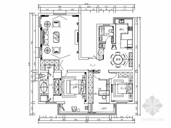 [南通]精装现代简欧三居室装修图(含效果)