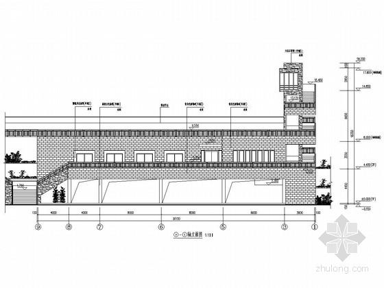 旅游景区游客中心及救生中心结构施工图(含建筑图)