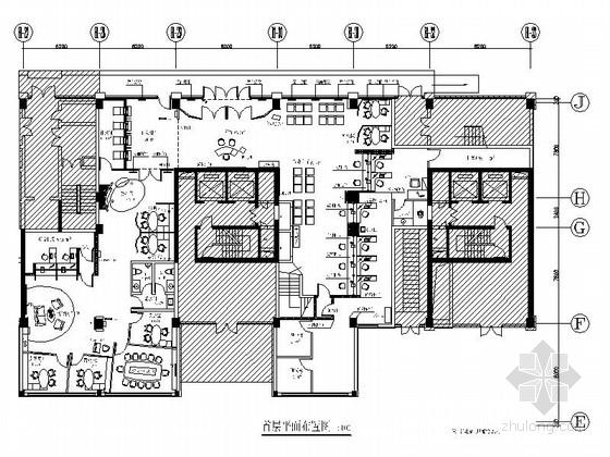 [北京]国际化大型金融服务中心支行装修设计施工图(含效果)