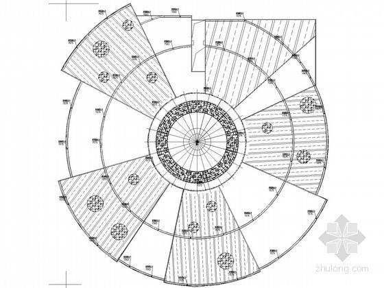 [长沙]大型文体中心屋面虹吸雨水排水系统施工图