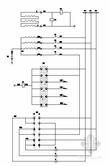 6KV电压互感器柜二次接线控制原理图