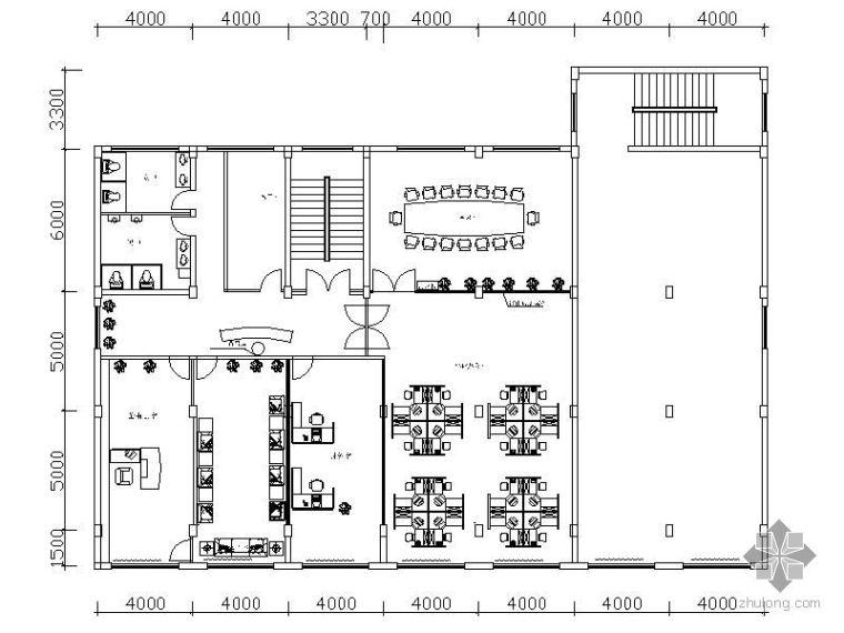 某乳制品办公室平面图_1
