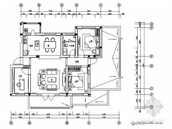 [哈尔滨]东南亚风情室内设计三居室样板房装修图(含效果实景)