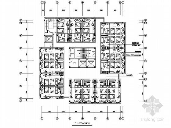 [杭州]某酒店客房改造室内装修施工图(含效果)