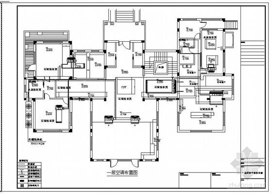别墅VRV设计空调平面布置图纸