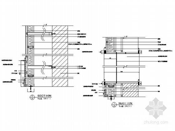 成套隔墙装饰墙面造型节点详图CAD图块下载