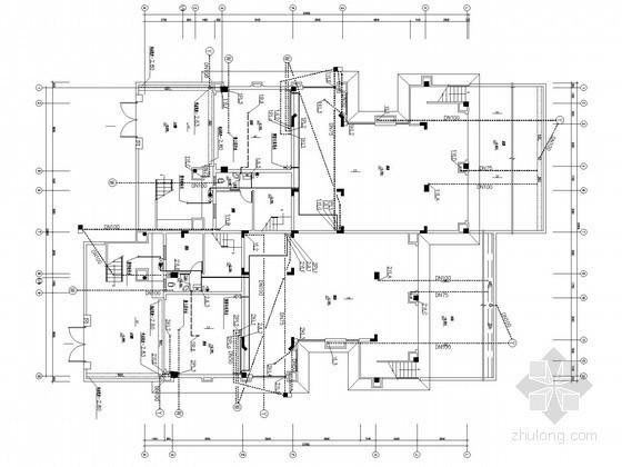 [深圳]三层别墅建筑群给排水施工图纸