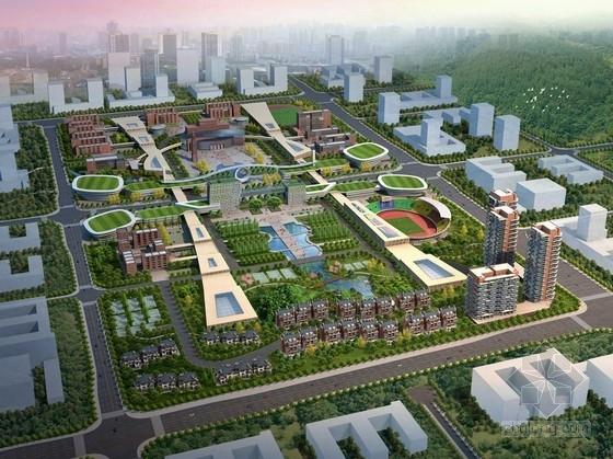 [重庆]现代风格高等专科院校规划设计方案文本