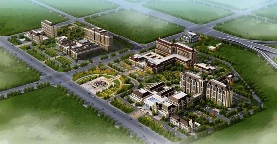 [大连]新建古典风格附属医院建筑设计方案文本(含教学楼)