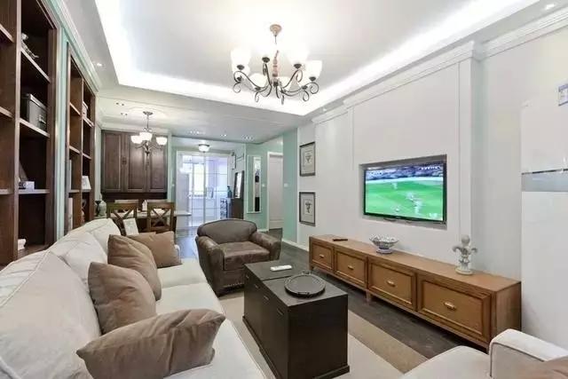 时尚客厅装修,现代简约风格客厅电视机柜效果图_5