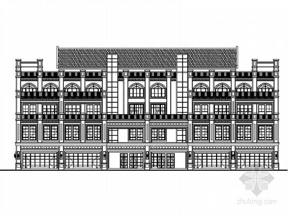 [重庆]某商业广场四层欧式商业楼扩初图(8号楼)