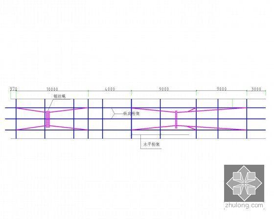 [浙江]35.9t地下连续墙钢筋笼吊装专项施工方案(细部图丰富)-35.97m钢筋笼吊点布置示意图
