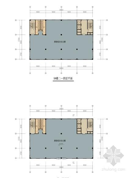 [浙江]电子晶体立面新建厂房建筑设计方案文本-电子晶体立面新建厂房建筑设计平面图