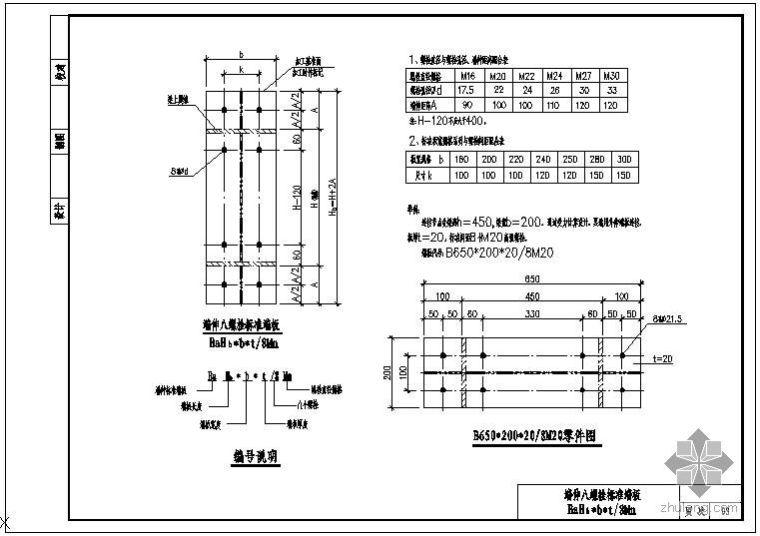 某钢结构标准结点节点构造详图
