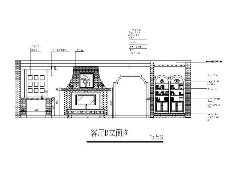 全套地中海田园风格样板房CAD施工图(含效果图)_3