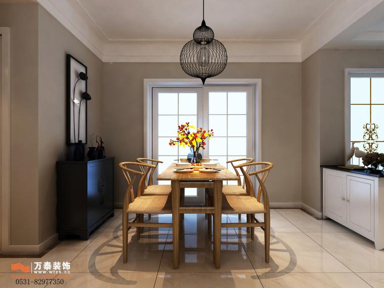 领秀公馆120平三室两厅装修,新中式风格真的很漂亮-餐厅2.jpg
