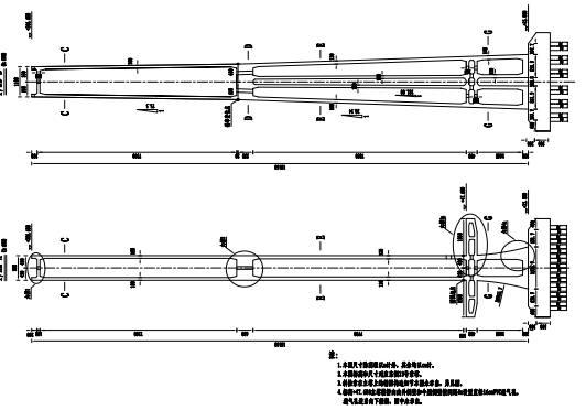 特大桥主跨658m双塔混合梁斜拉桥主桥结构图纸341张(公路桥涵设计规范JTJD60-2015)_2