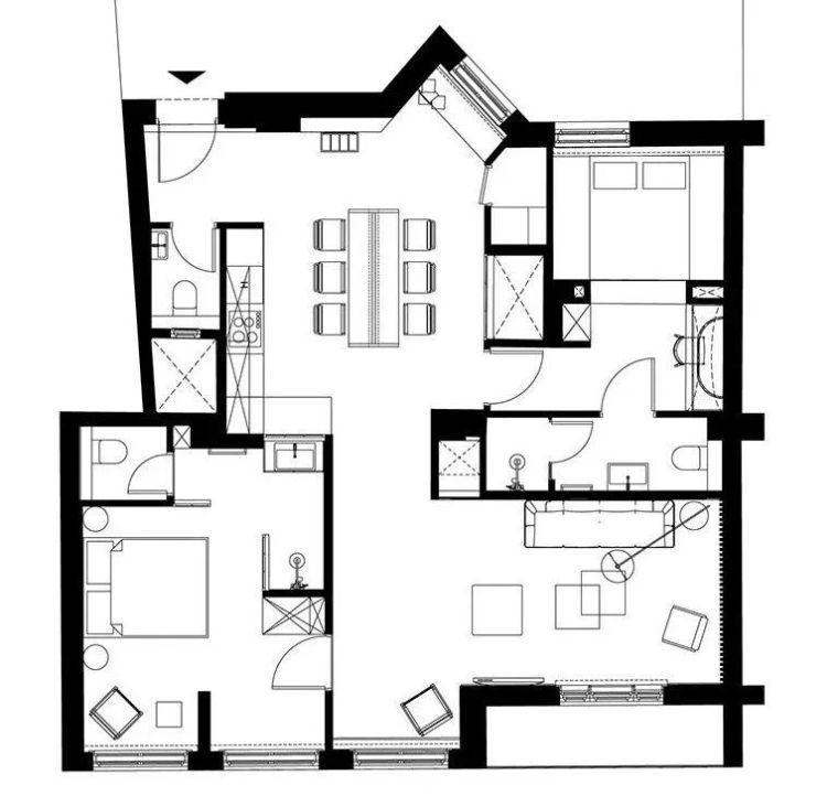 深色系墙面设计,让你家的颜值翻一倍_2