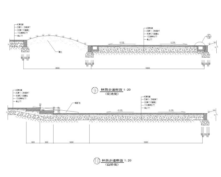 精选路缘侧石设计施工图(25套)-侧石018