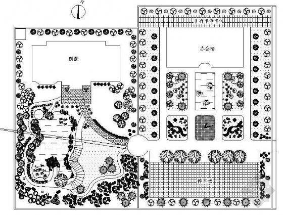 某公司绿地规划设计图纸
