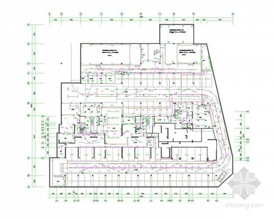 [江苏]一类高层商住楼强弱电全套施工图纸(裙房4层、塔楼28层)