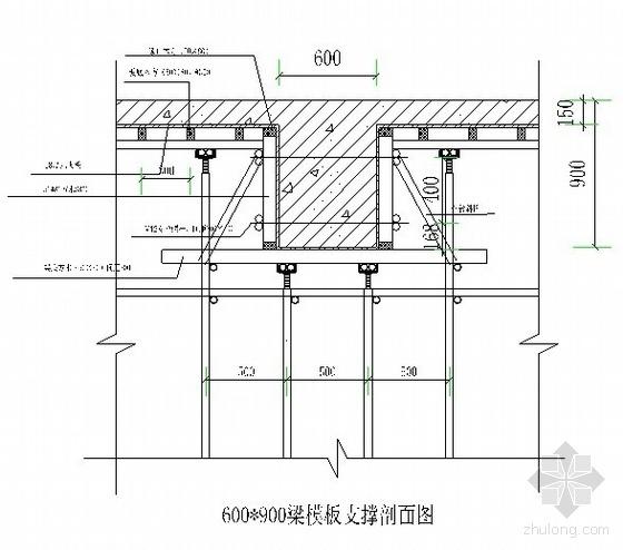 [东莞]高层建筑高支模方案(高9.5m 最大跨度12米)
