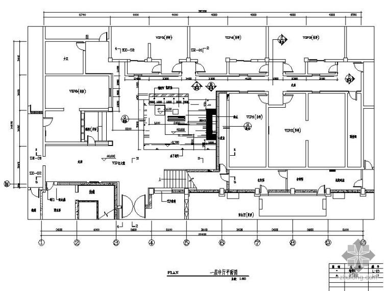 某酒店新中式中厅室内装修图(含效果)_1