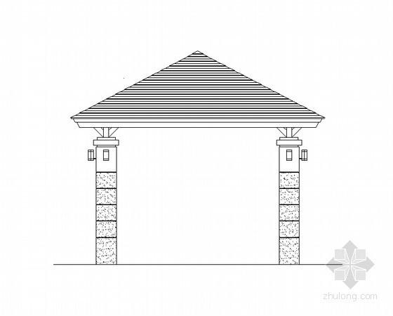 广场特色景观亭施工图