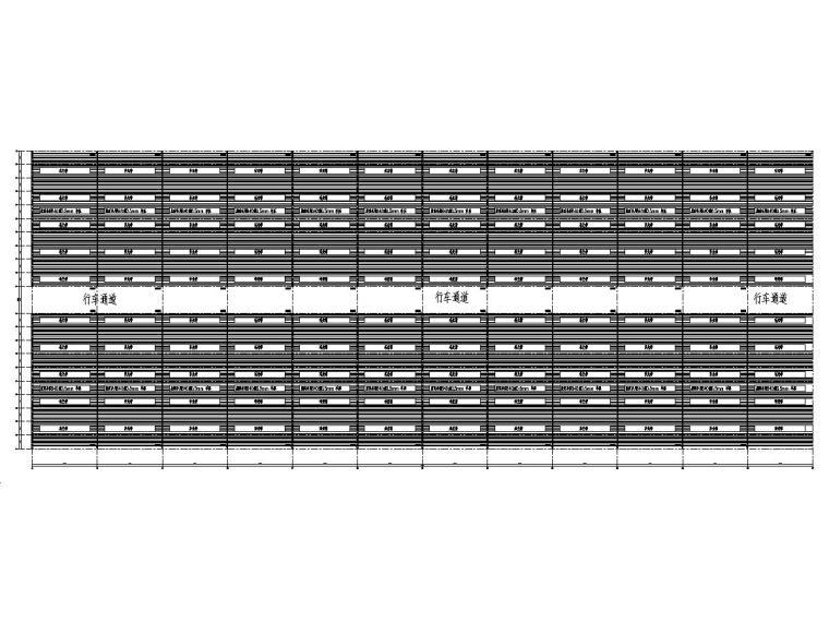 原料仓库简易棚110x288x7m钢结构图