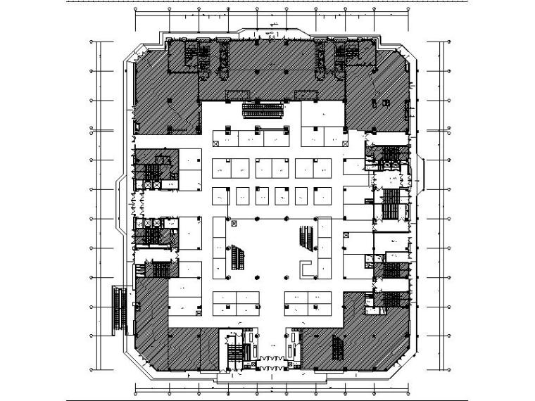 [山东]现代气派高端大型商场室内设计施工图(含效果图)