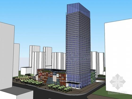 现代办公建筑SketchUp模型下载-现代办公建筑